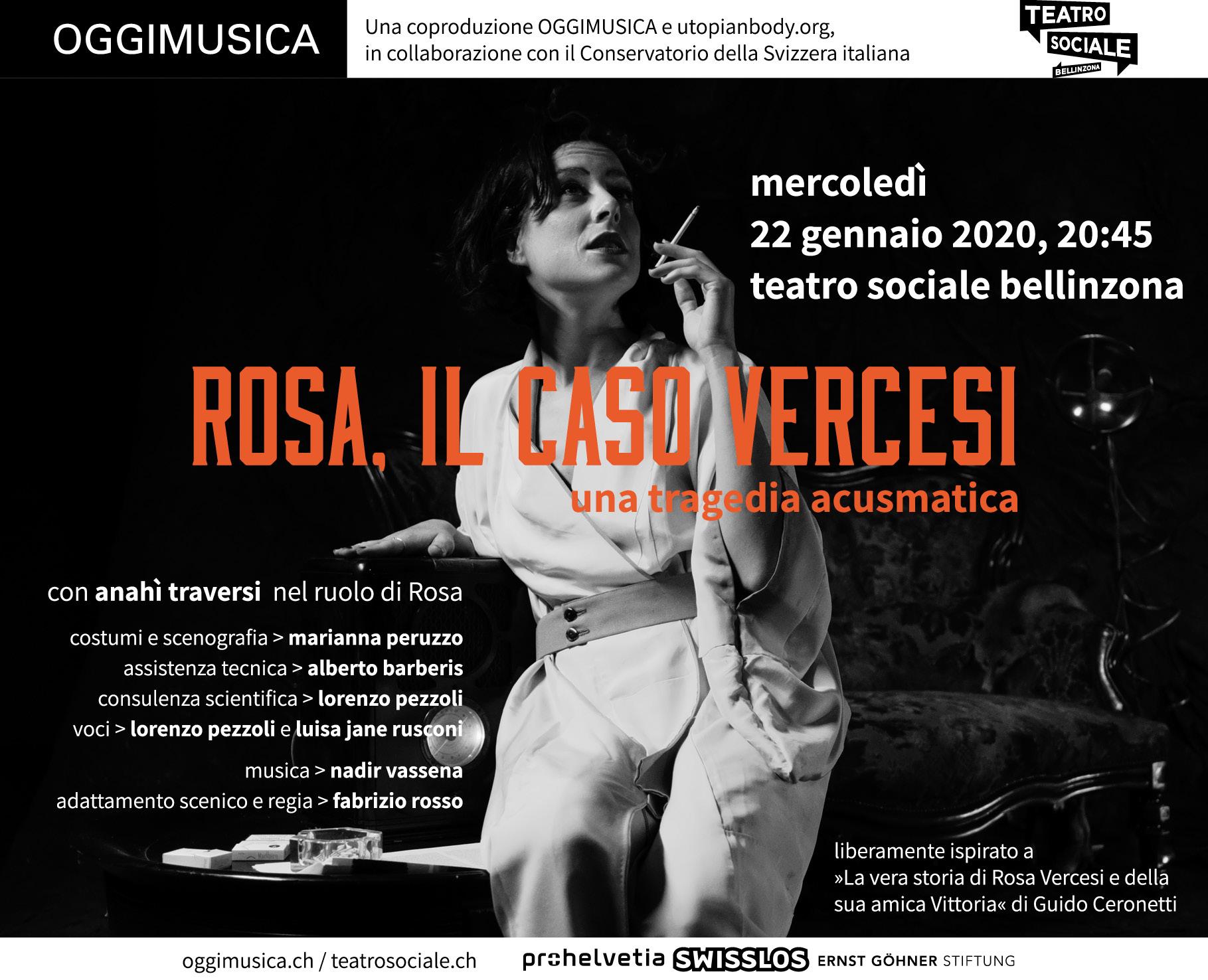 Rosa Vercesi, 22 gennaio 2020, tetro sociale belinninzona